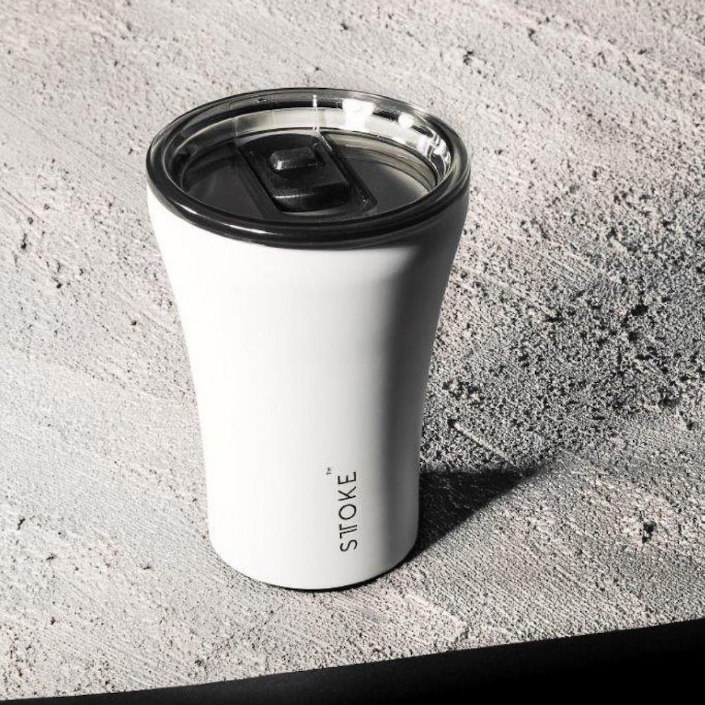 澳洲 STTOKE 精品咖啡隨行杯 8oz(五色,白)