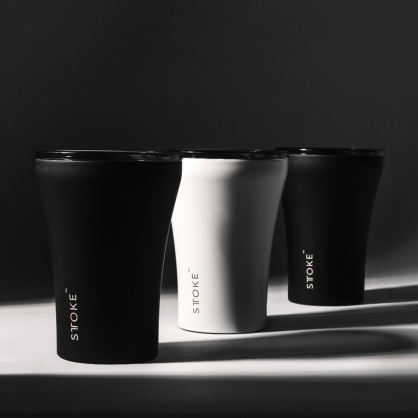 澳洲 STTOKE 精品咖啡隨行杯 8oz(三色,黑)