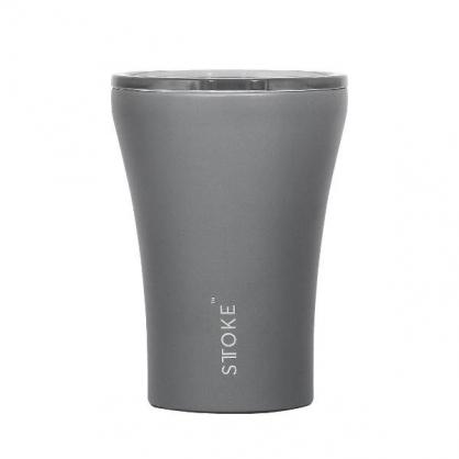 澳洲 STTOKE 精品咖啡隨行杯 8oz(石岩灰)
