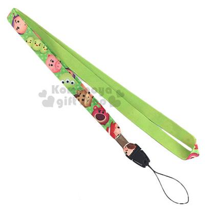 〔小禮堂〕迪士尼 Tsum Tsum 多功能頸帶《綠.三眼怪.熊抱哥》