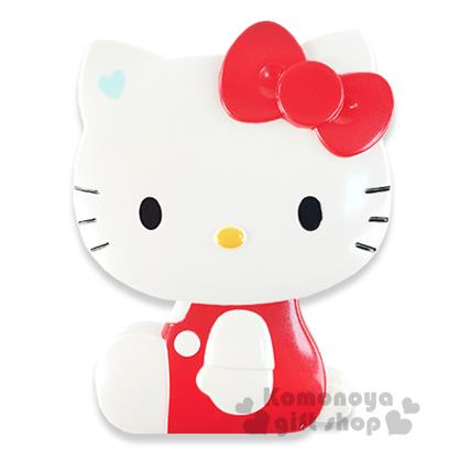 〔小禮堂〕Hello Kitty 造型折疊梳《紅.側坐.盒裝》附鏡子