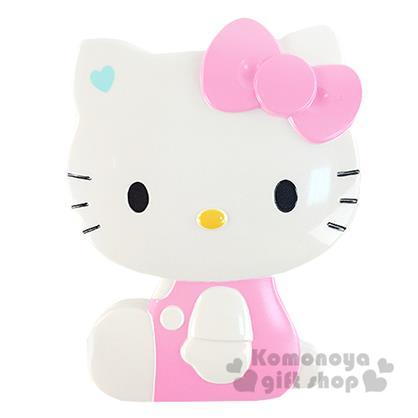 〔小禮堂〕Hello Kitty 造型折疊梳《粉.側坐.盒裝》附鏡子