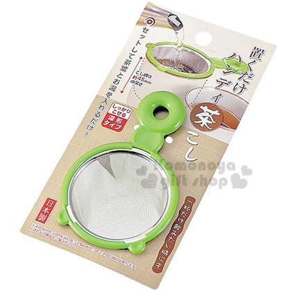 〔小禮堂〕日製手柄不鏽鋼茶濾網《綠》