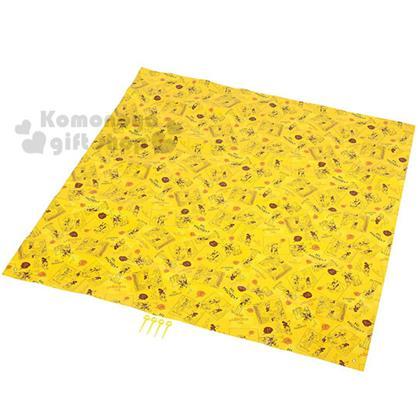 〔小禮堂〕迪士尼 米奇 附袋泡棉野餐墊《黃.高飛.手繪風.180X180cm》4~5人用尺寸設計