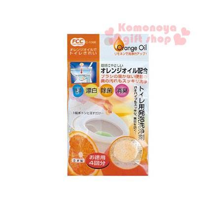〔小禮堂〕日製橘子馬桶清潔錠《4入.橘》橘子油專用清潔劑