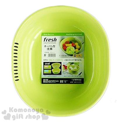 〔小禮堂〕Sanada 日製洗菜籃《淺綠.橢圓》5.3L