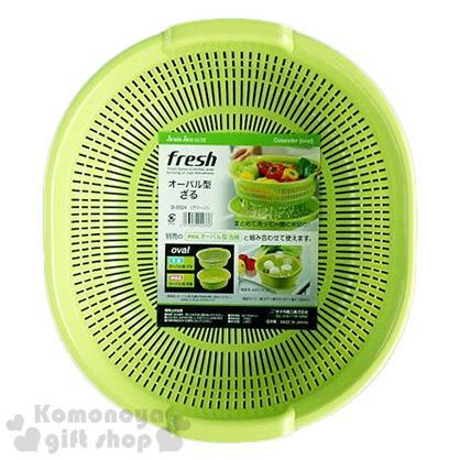〔小禮堂〕Sanada 日製瀝水籃《淺綠.橢圓》5.3L