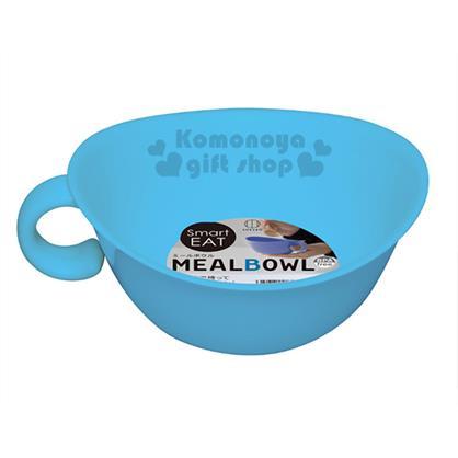 〔小禮堂〕KOKUBO  日製 單耳塑膠湯碗《藍》可微波