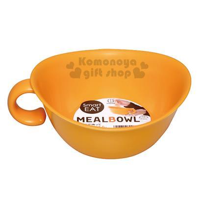 〔小禮堂〕KOKUBO  日製 單耳塑膠湯碗《橘》可微波