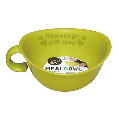 〔小禮堂〕KOKUBO  日製 單耳塑膠湯碗《綠》可微波