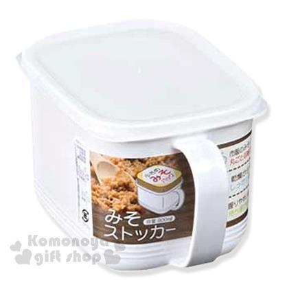 〔小禮堂〕日本NAKAYA化學產業 日製調味盒《白.長方形.800ml》透明盒蓋