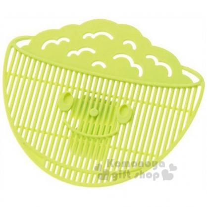 〔小禮堂〕日製造型瀝米板《綠.飯碗型》不怕米粒會掉出來 4954267-05470