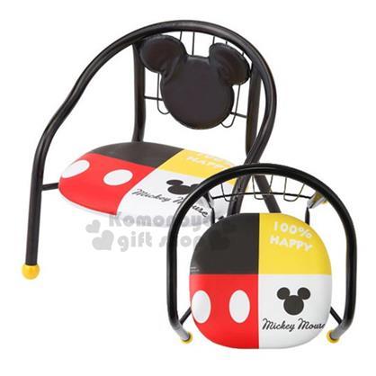 〔小禮堂〕迪士尼 米奇 兒童椅子《小.黑.大臉》椅墊坐下去會發出聲音