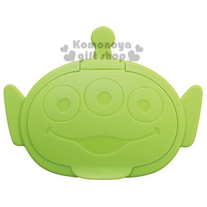〔小禮堂〕迪士尼 三眼怪 日製造型濕紙巾蓋《淺綠.大臉》可重複使用