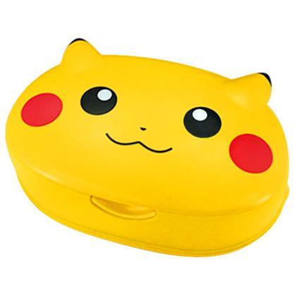 〔小禮堂〕神奇寶貝 Pokemon 皮卡丘 日製濕紙巾盒《黃.大臉》內附80抽玻尿酸濕紙巾