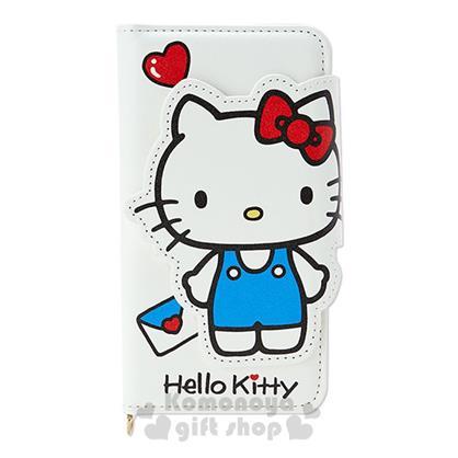 〔小禮堂〕Hello Kitty 掀蓋式裝飾殼《M.白.站姿.愛心.信封》適用多種機型.夢幻系列
