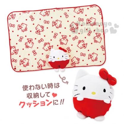 〔小禮堂〕Hello Kitty  造型毛毯《白紅.站姿》2017溫暖冬季系列