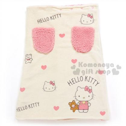 〔小禮堂〕Hello Kitty 毛毯裙《黃粉.愛心.小熊.雙口袋》2017溫暖冬季系列