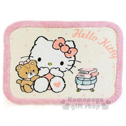 〔小禮堂〕Hello Kitty 圓角毛毯《黃粉.小熊.書本》2017溫暖冬季系列