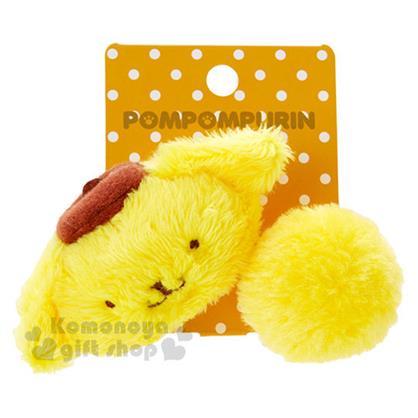 〔小禮堂〕布丁狗 造型絨毛彈力髮束《黃.大臉.毛球》