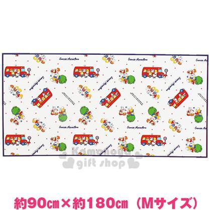 〔小禮堂〕Sanrio大集合 野餐墊《M.白.藍邊.紅校車.點點.90X180cm》春夏野餐系列