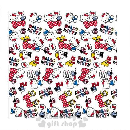 〔小禮堂〕Hello Kitty 泡棉野餐墊《LL.白.點點蝴蝶結.朋友滿版.》4~5人用尺寸設計