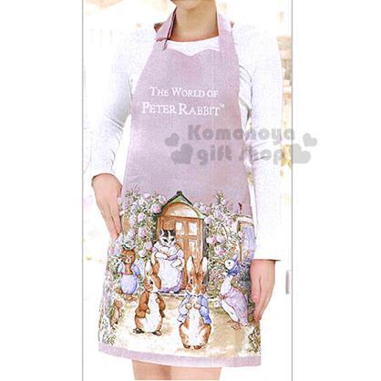 〔小禮堂〕 彼得兔 圍裙《粉.世界系列》雙口袋設計