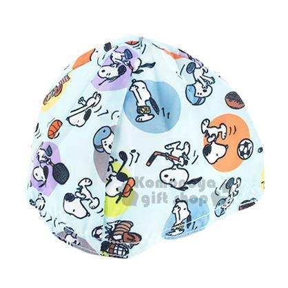 〔小禮堂〕史努比 安全帽內襯《藍.多運動.點點滿版》防塵衛生避免異味