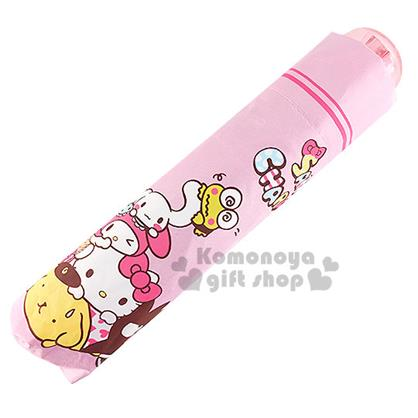 〔小禮堂〕Sanrio大集合 折疊雨陽傘《粉.堆疊》抗UV