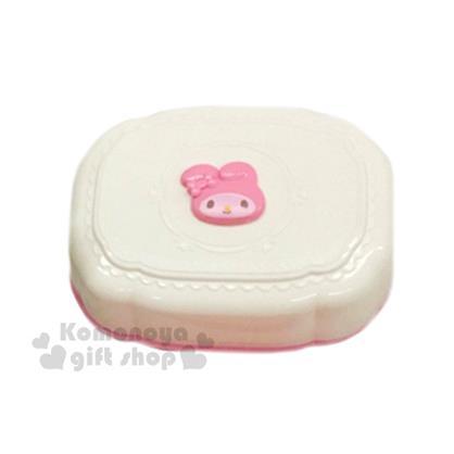 〔小禮堂〕美樂蒂 附蓋肥皂盒《白.大臉.雕花》