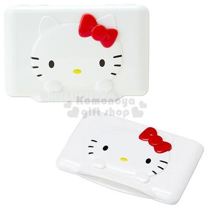 〔小禮堂〕Hello Kitty 濕紙巾蓋子《紅.大臉》可重複使用