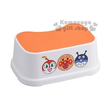 〔小禮堂〕麵包超人 日製浴室椅《白橘.大臉.朋友》衛浴專用
