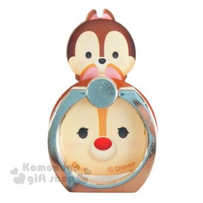 〔小禮堂〕迪士尼 Tsum Tsum 造型壓克力手機指環架《奇奇蒂蒂.堆疊》可360度旋轉