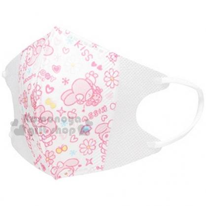 〔小禮堂〕美樂蒂 兒童立體口罩《5入.白.多動作.滿版.愛心.酷洛米》適用1~3歲兒童