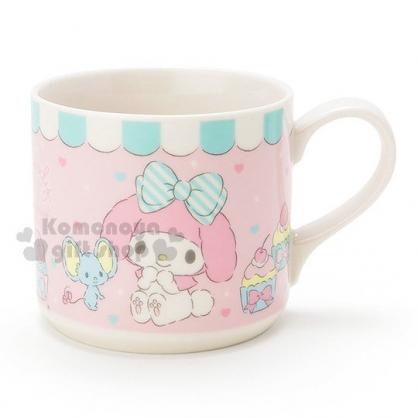 〔小禮堂〕美樂蒂 陶瓷馬克杯《粉.杯子蛋糕.小老鼠》精美盒裝