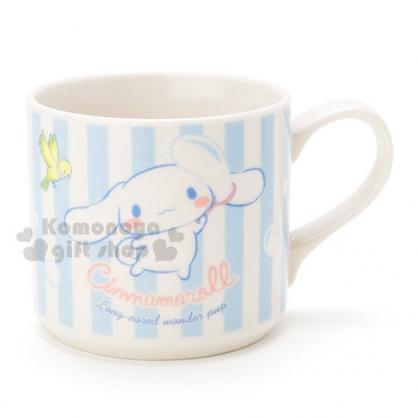 〔小禮堂〕大耳狗 陶瓷馬克杯《藍.直紋.泡泡.青鳥》精美盒裝