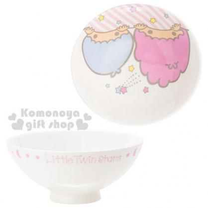 〔小禮堂〕雙子星 陶瓷碗《大臉.顛倒.英文字樣》