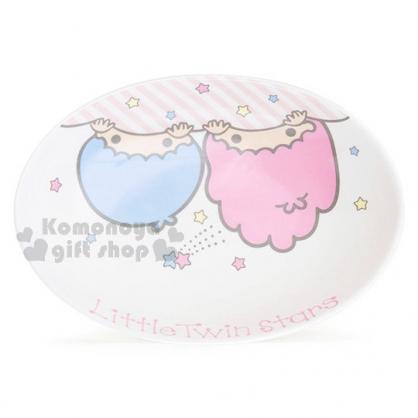 〔小禮堂〕雙子星 陶瓷咖哩盤《大臉.星星.英文字樣》