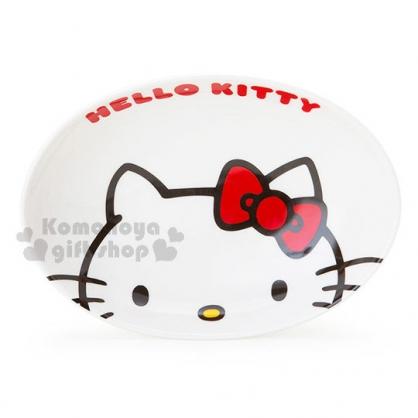 〔小禮堂〕Hello Kitty 陶瓷咖哩盤《大臉.英文字樣》