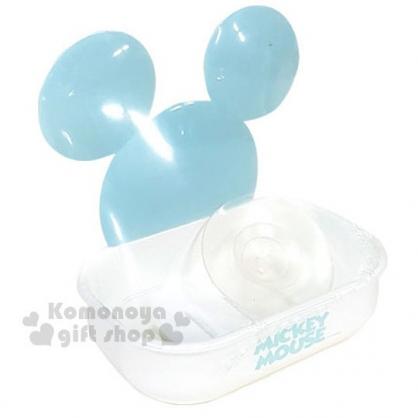 〔小禮堂〕迪士尼 米奇 造型吸盤式皂盤《白.淺藍大臉》肥皂盒.肥皂架