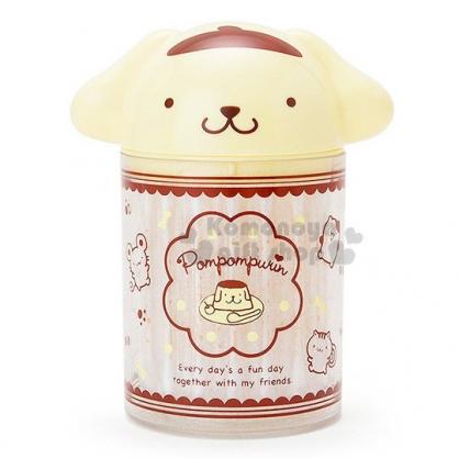 〔小禮堂〕布丁狗 造型棉花棒罐《黃棕.大臉.點點》單支包裝.60支入