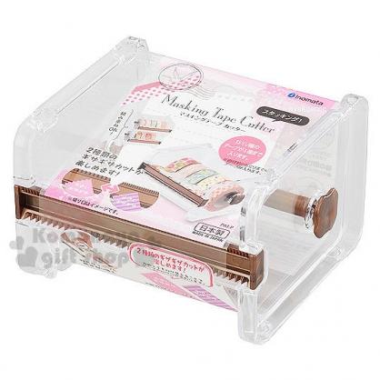 〔小禮堂〕INOMATA 日製 紙膠帶收納盒《透明.壓克力》