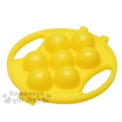 〔小禮堂〕日製圓形飯糰壓模《黃.足球.黃盒裝》創意便當輕鬆做