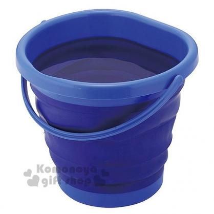 〔小禮堂〕收納式水桶《藍.盒裝》容量約6.5L