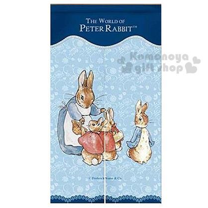 〔小禮堂〕彼得兔 長門簾《藍.蕾絲.兔媽媽》85x150cm