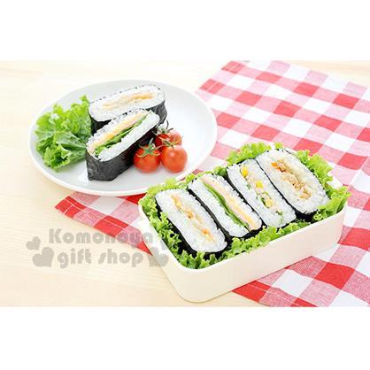 〔小禮堂〕日製壽司飯糰壓模《白.方型.把手》