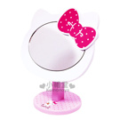 〔小禮堂〕Hello Kitty 臉形化妝鏡台《粉紅.抱小熊》角度可調整