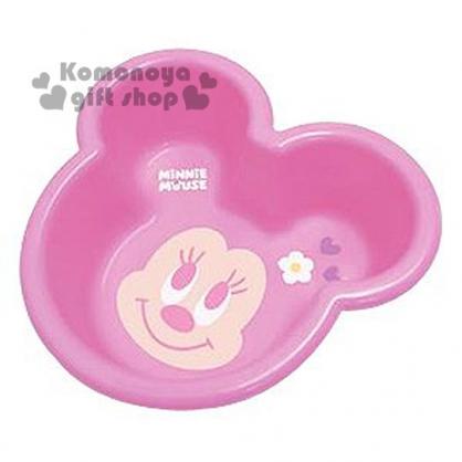 〔小禮堂〕迪士尼 米妮 日製兒童造型洗臉盆《粉.大臉.愛心.花朵》美化浴室空間