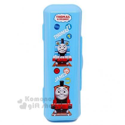 〔小禮堂〕湯瑪士小火車 扣式餐具盒《藍.朋友.雲朵》環保又衛生