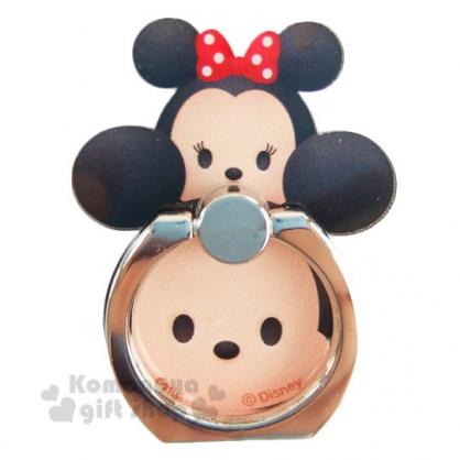 〔小禮堂〕迪士尼 Tsum Tsum 造型壓克力手機指環架《米奇米妮.堆疊》可360度旋轉